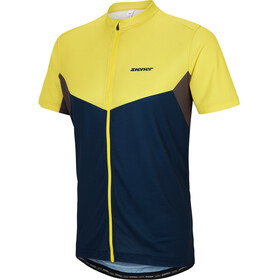 Ziener Caplan - Maillot manches courtes Homme - jaune/bleu